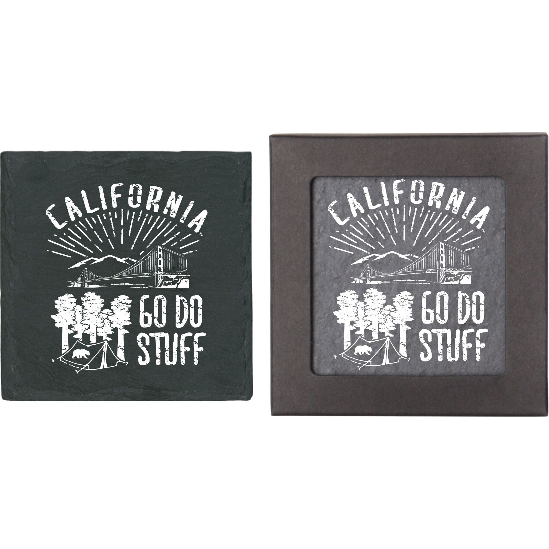 Cal Bears Single Slate Coaster Go Do Stuff