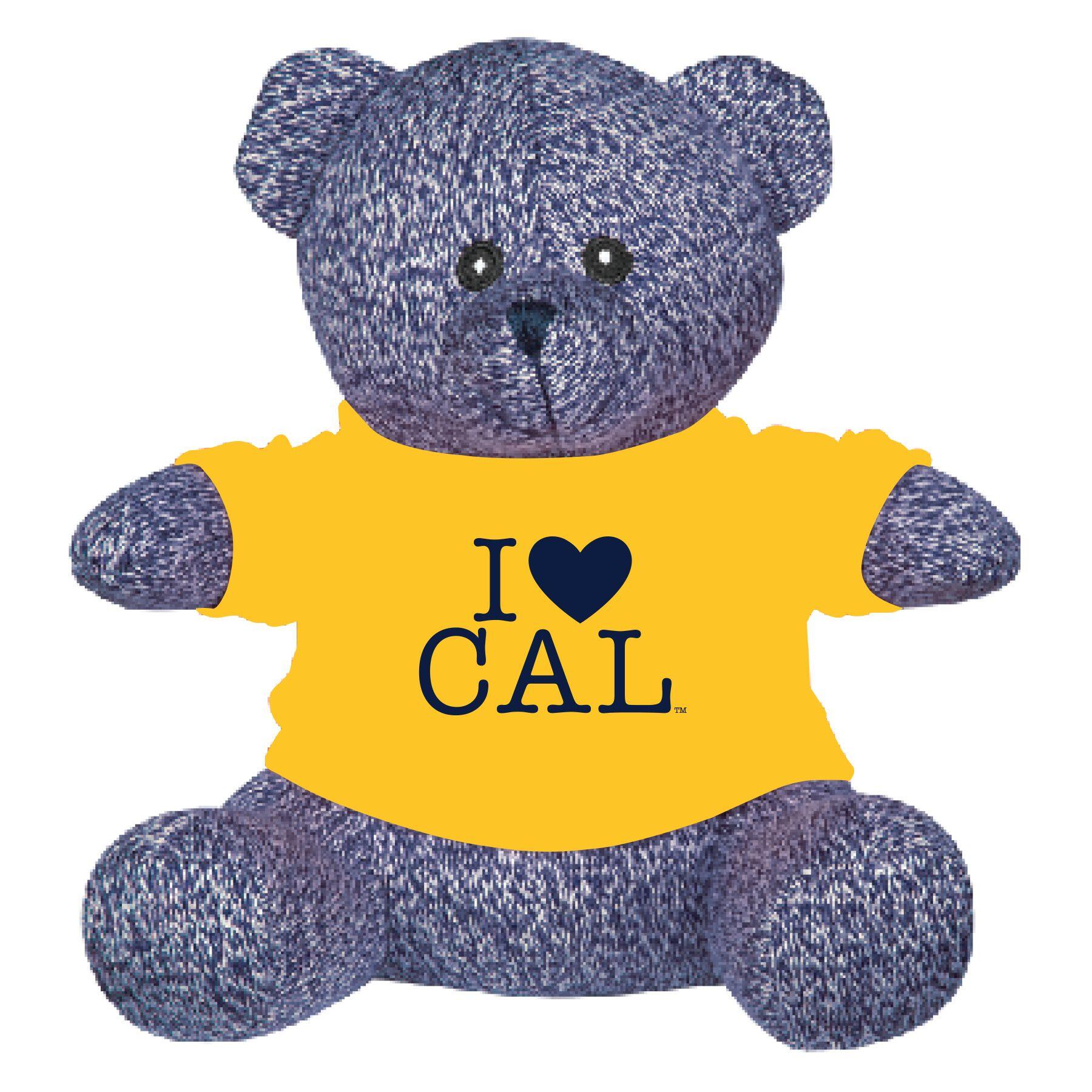 "Cal Bears 8.5"" Palmer Bear Gold Tee I Heart Cal Gold Tee"