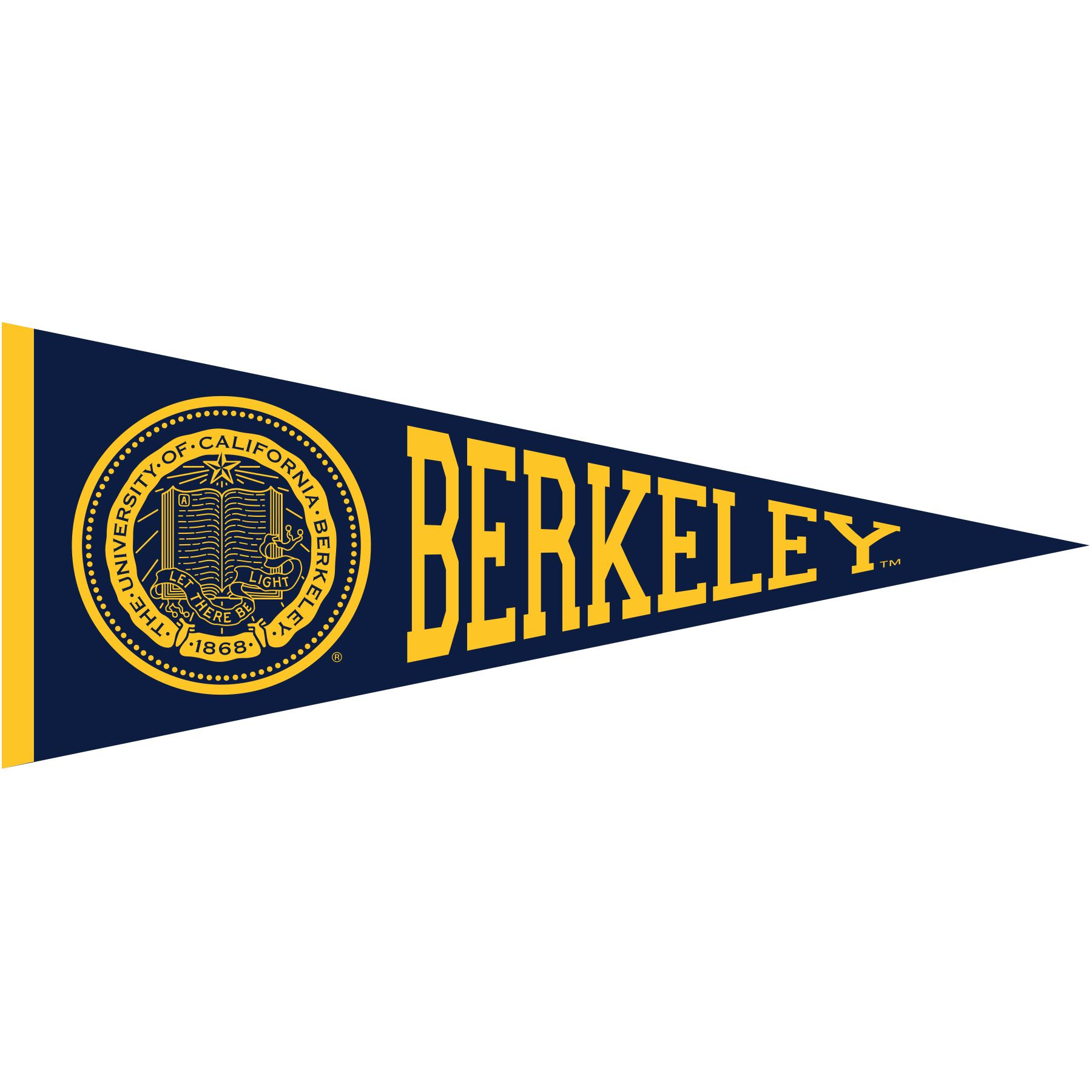 "Cal Bears Pennant 6"" Magnet Seal Berkeley"