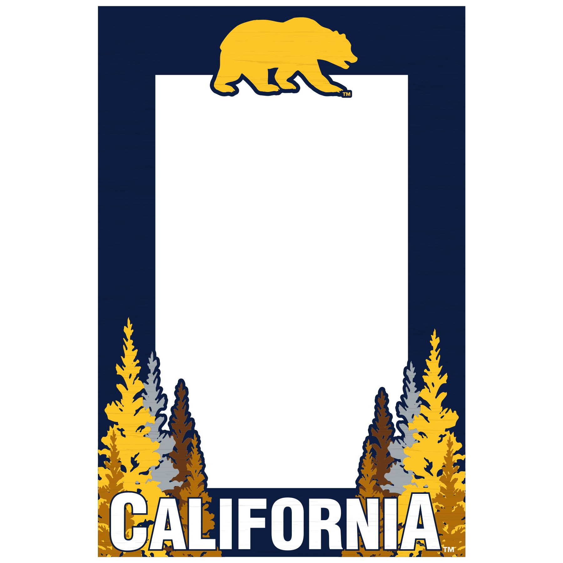 Cal Bears Recycled Wood Magnetic 4x6 Frame Vertical