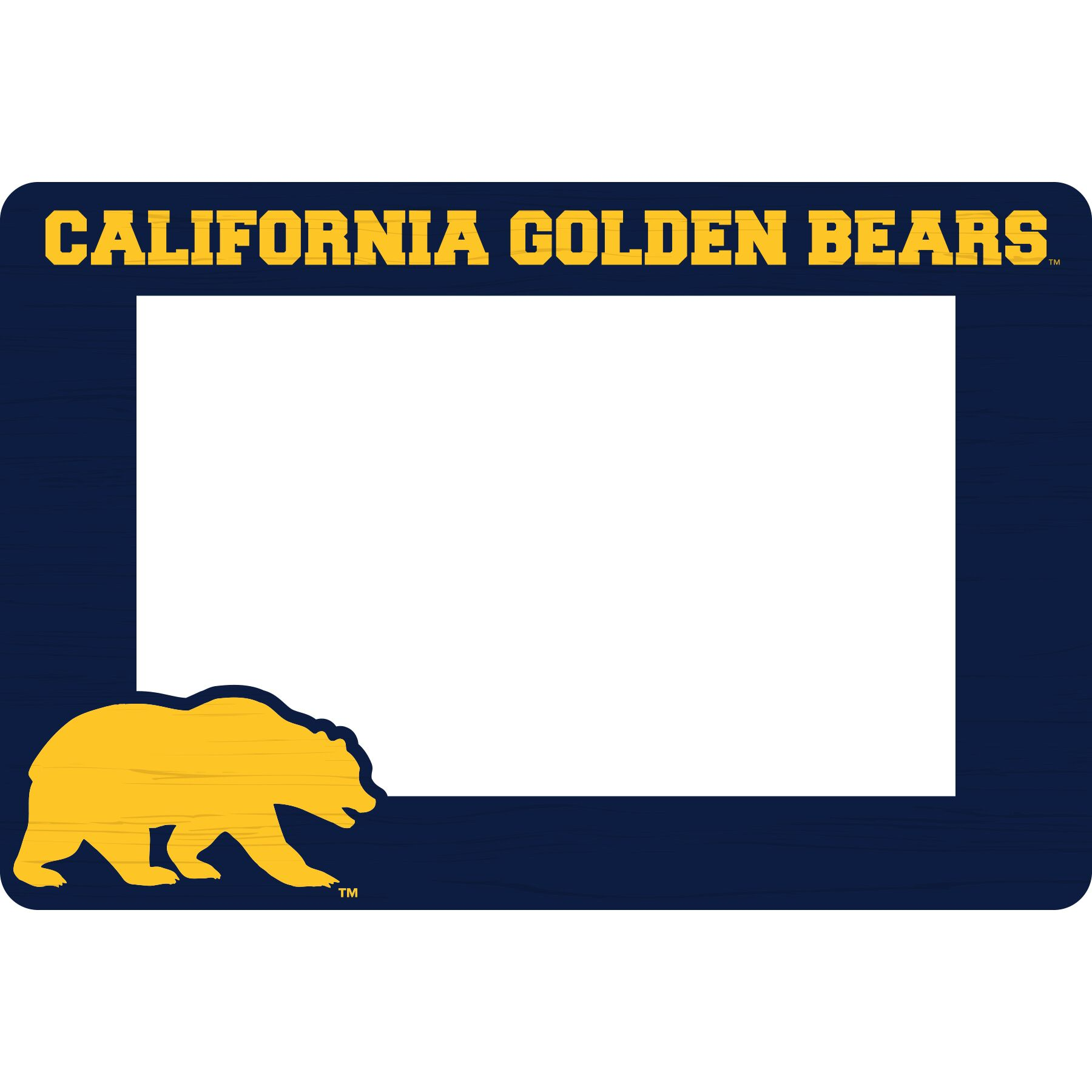 Cal Bears Recycled Wood Magnetic 4x6 Frame Horizontal