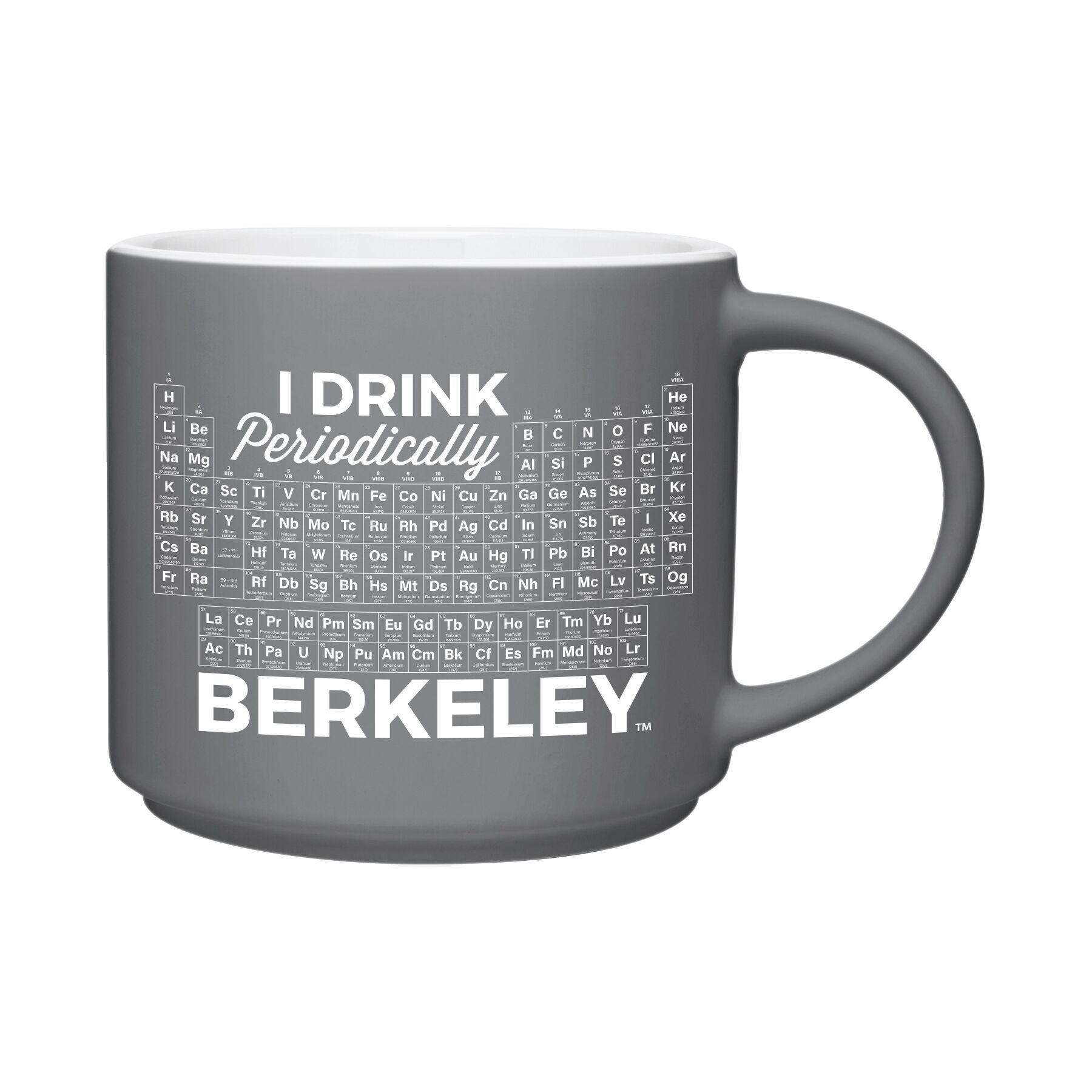 Cal Bears 16oz Riviera Mug Matte Gray Drink Periodically