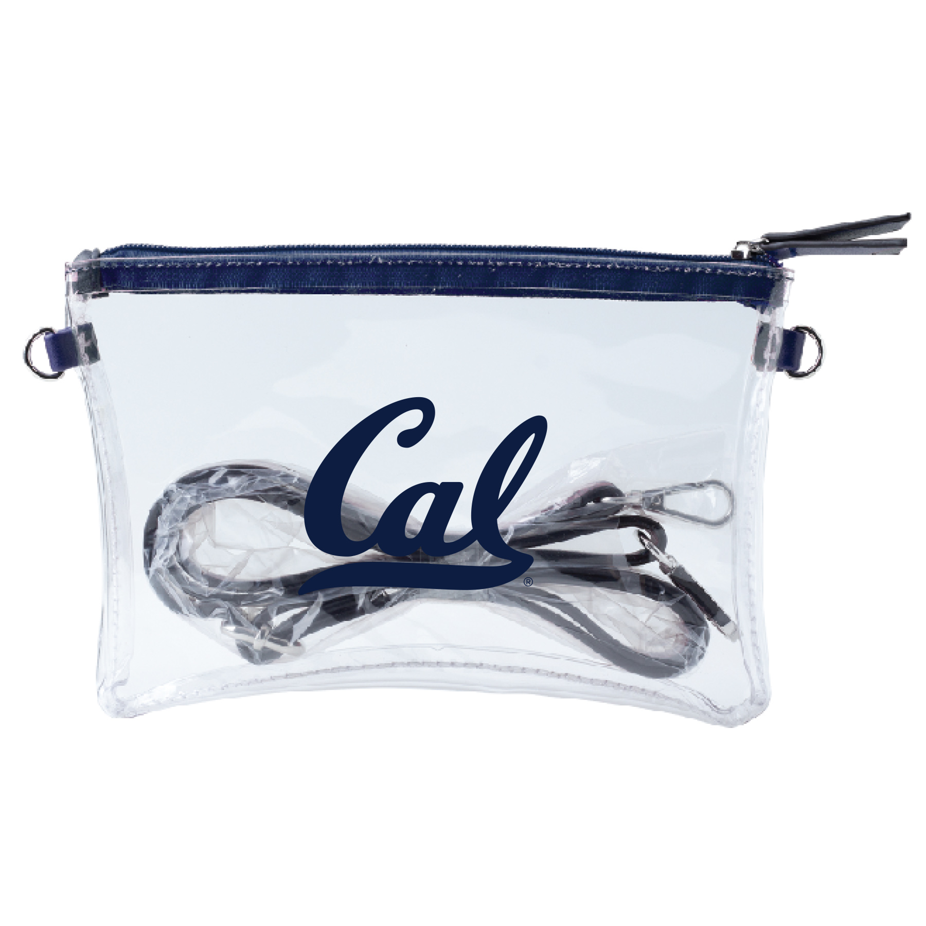 Cal Bears Clear Crossbody Bag Cal Logo