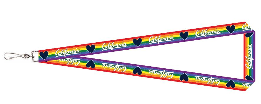 "Cal Bears Rainbow 3/4"" Lanyard California Logo"