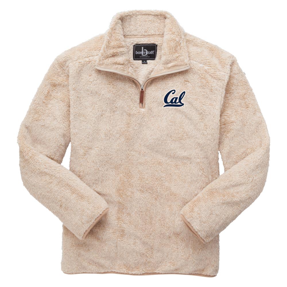 Cal Bears M Fuzzy Fleece QZ Cal Logo