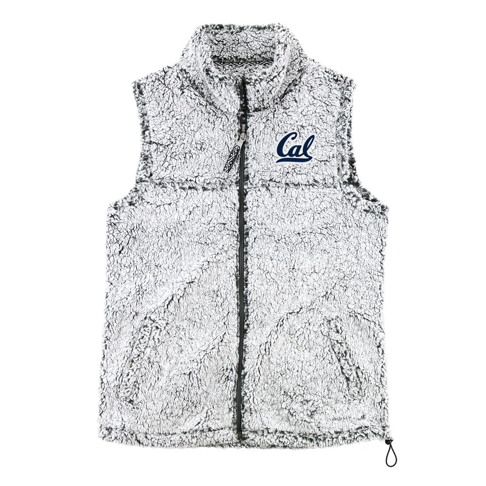 Cal Bears W FZ Sherpa Vest Cal Logo