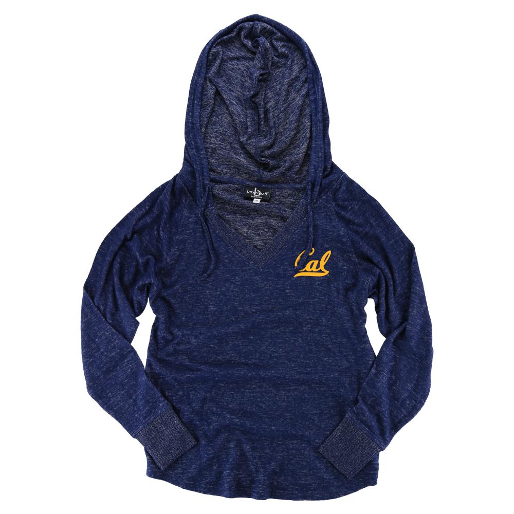 Cal Bears W Cuddle Vneck Hoodie Cal Logo