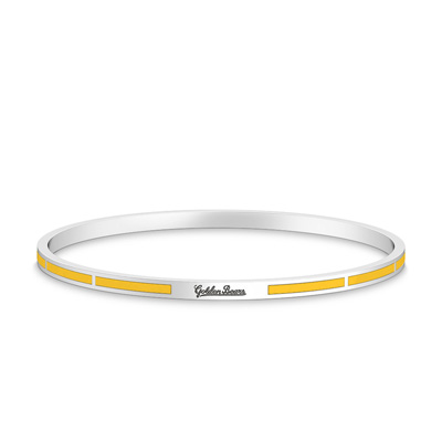 Golden Bears Engraved Enamel Bracelet in Yellow