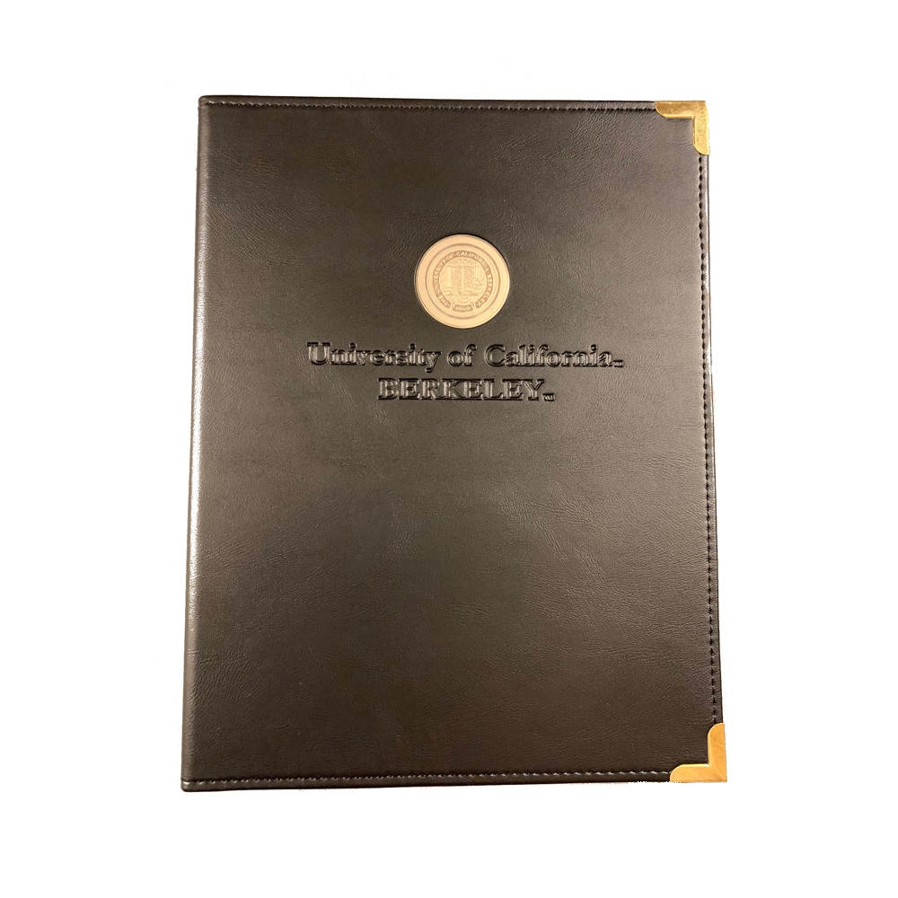 Cal Bears Classic Padfolio with Medillion and Blind Deboss School Name
