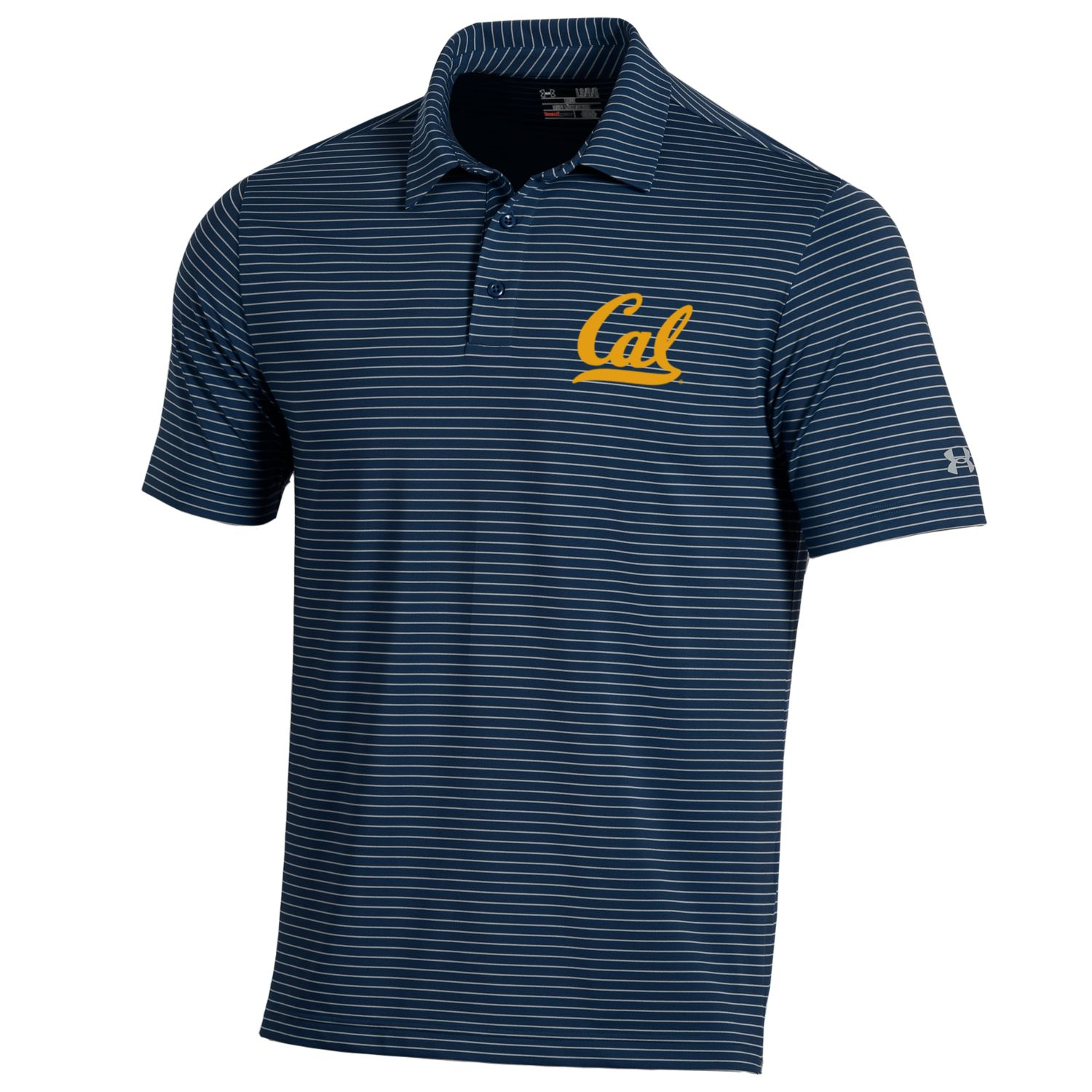 MD25-M Playoff Stripe Polo Cal Logo