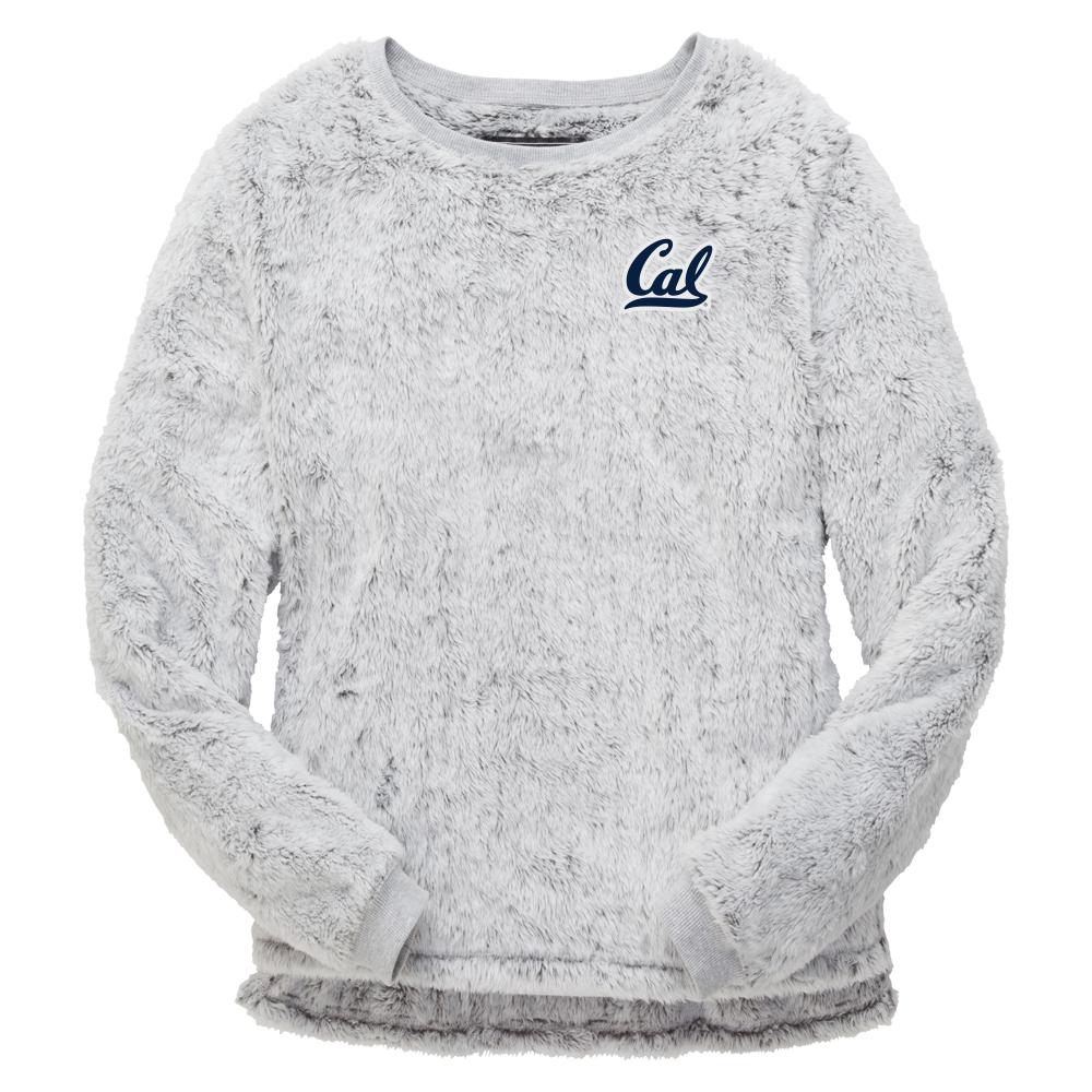 Cal Bears W Fuzzy Fleece Crew Cal Logo