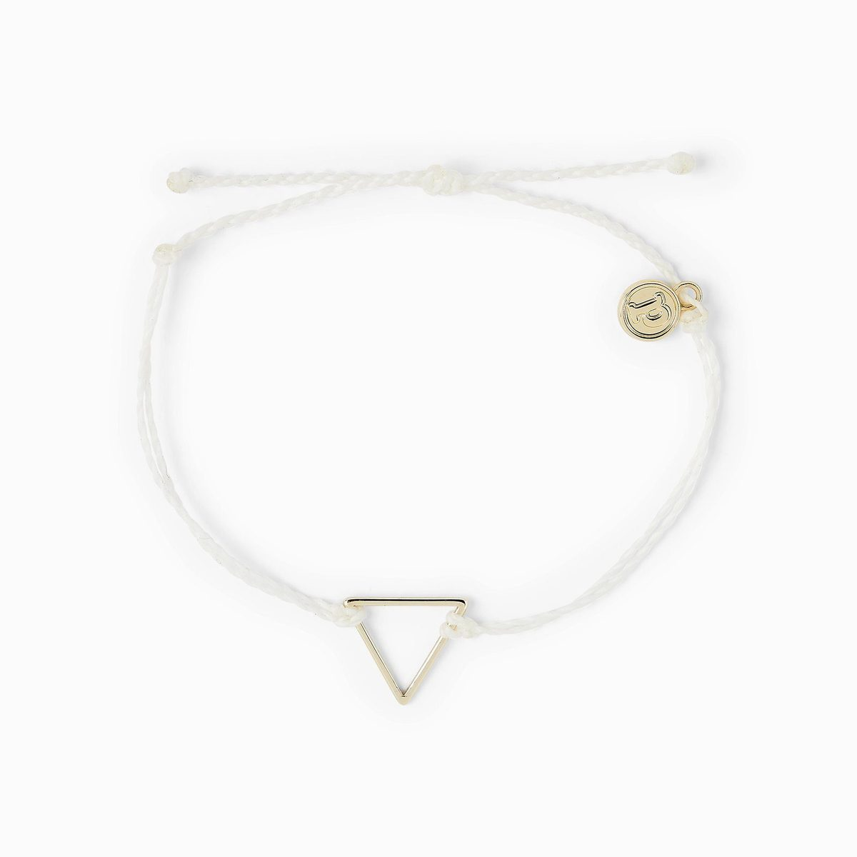 Pura Vida Gold Triangle Bracelet Natural