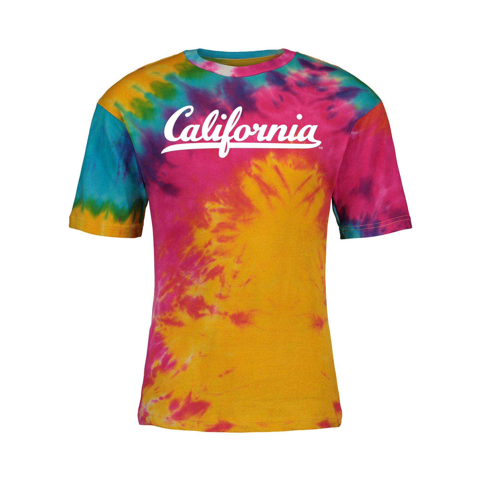 Cal Bears Crazy Tee California Wordmark 'Rainbow'