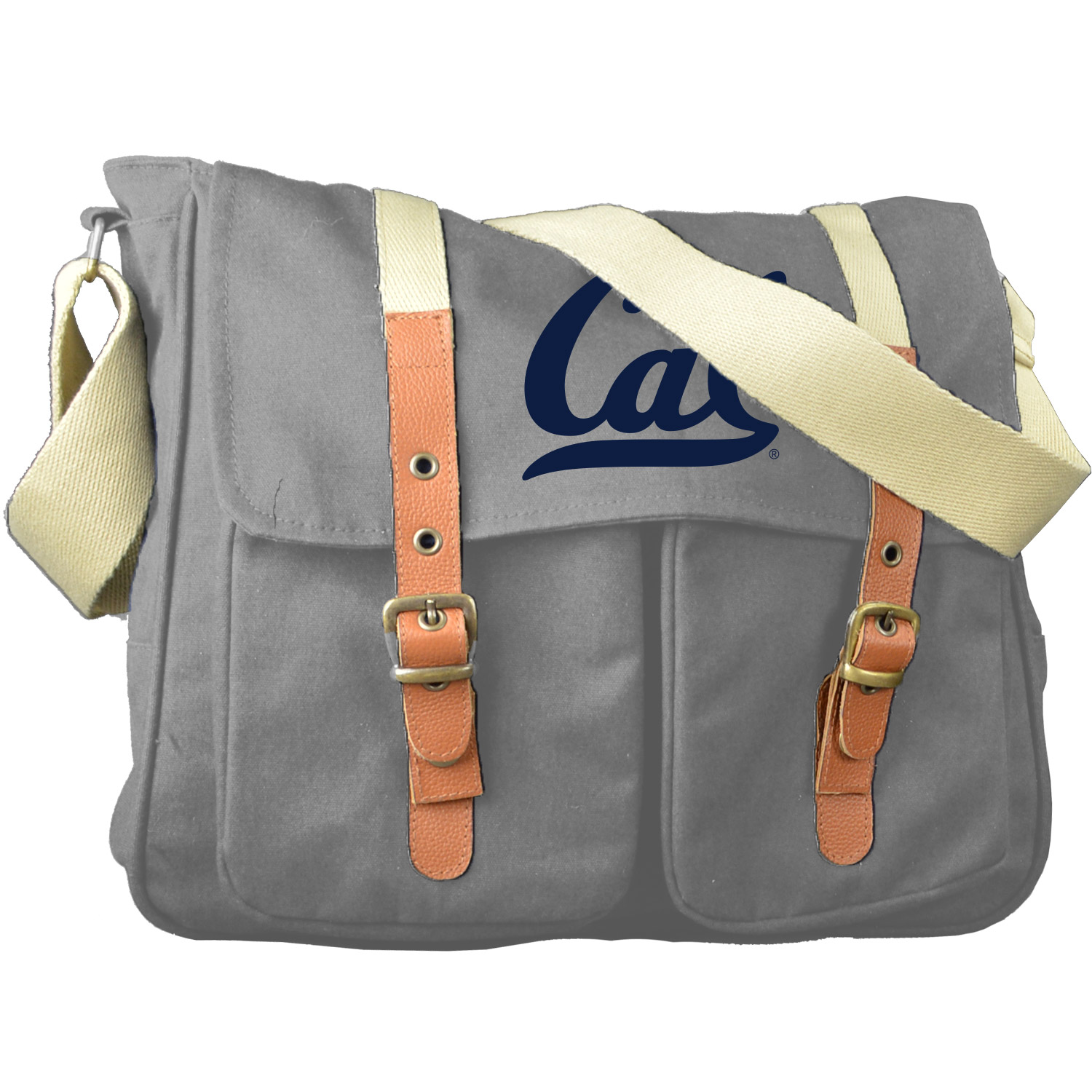 Cal Bears Peachskin Cotton Strapping Messenger