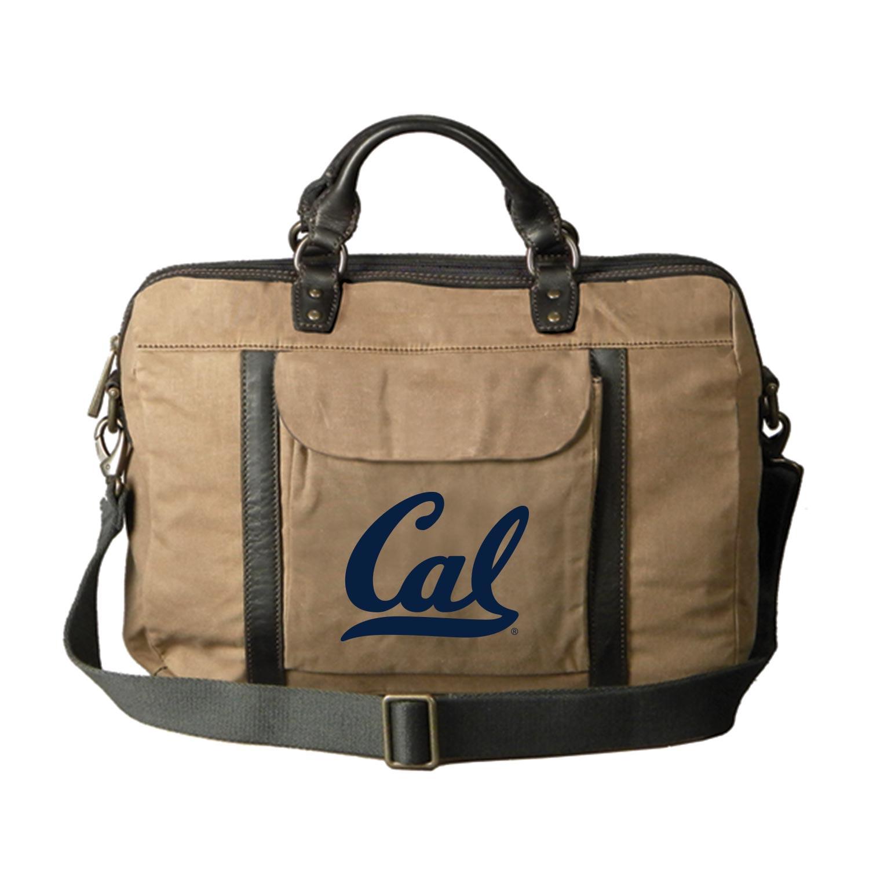 Cal Bears Waxed Cotton Canvas Briefcase
