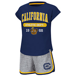 Cal Bears Toddler Girls Charge It Short Set