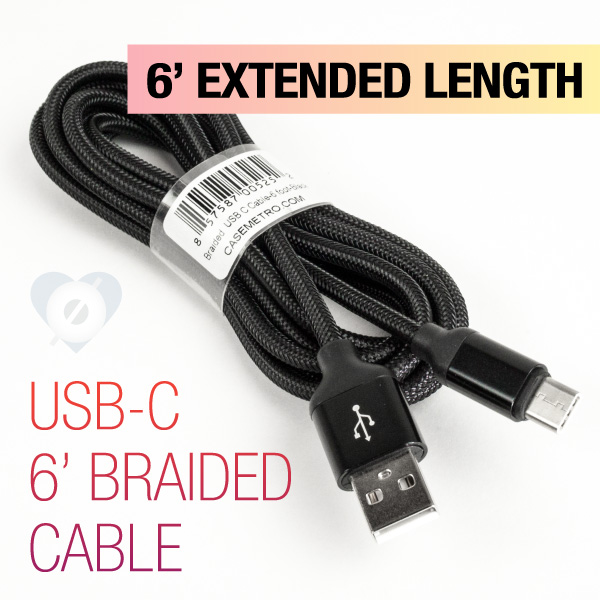Braided USB C Cable - 6ft