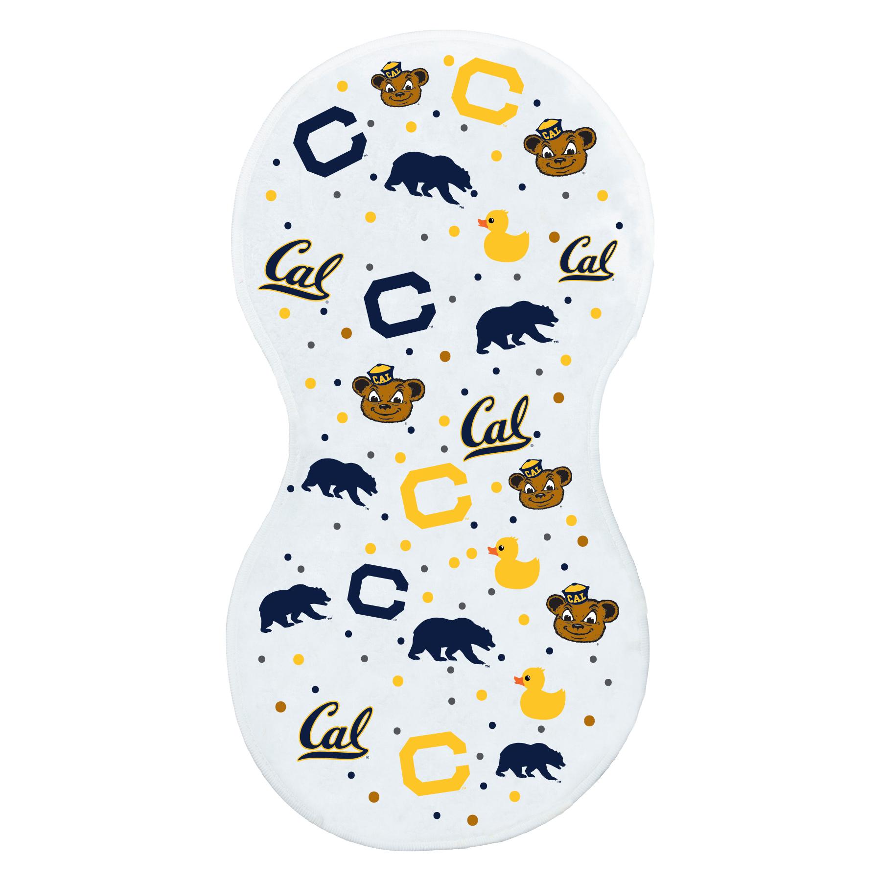 Cal Bears Super Soft Burp Cloth Logo Mix