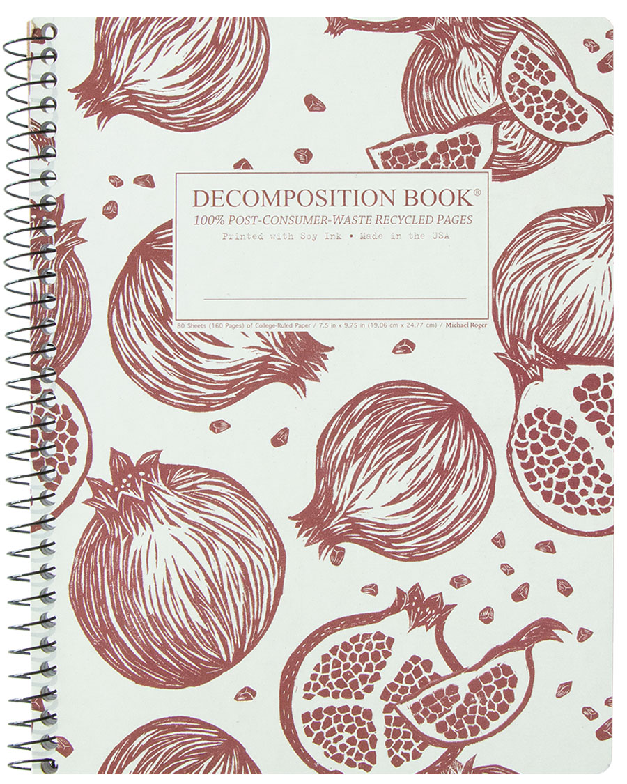 Michael Roger Coilbound Decomposition Book - Pomegranates