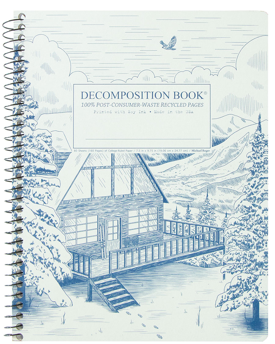 Michael Roger Coilbound Decomposition Book - Snowy Chalet
