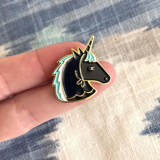 Enamel Pin Crashed the Party Unicorn