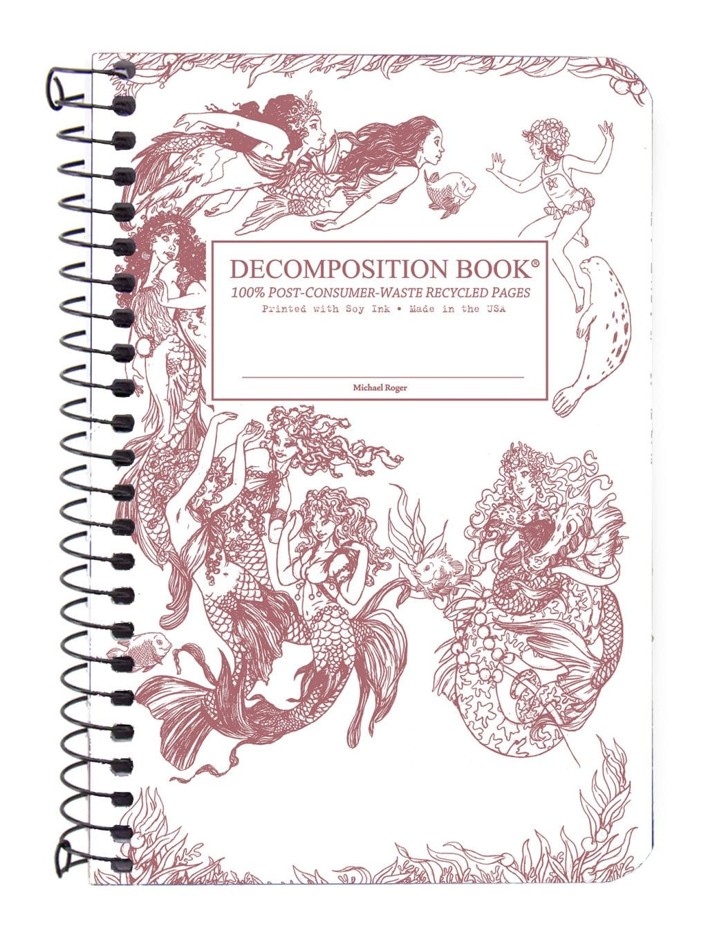 Pocket 4x6 Coil Decomposition Book - Mermaids