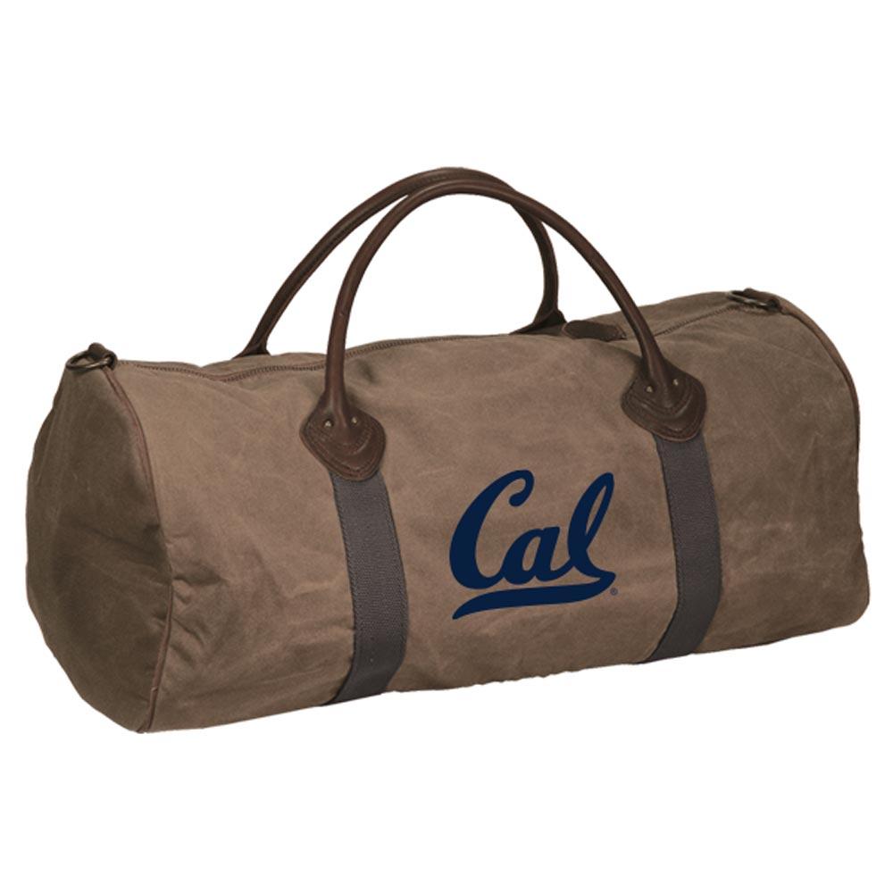 Cal Bears Waxed Cotton Canvas Duffel Bag