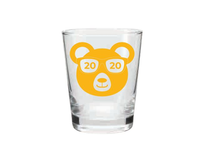 Class of 2020 Commemorative Shot Glass 1.75oz