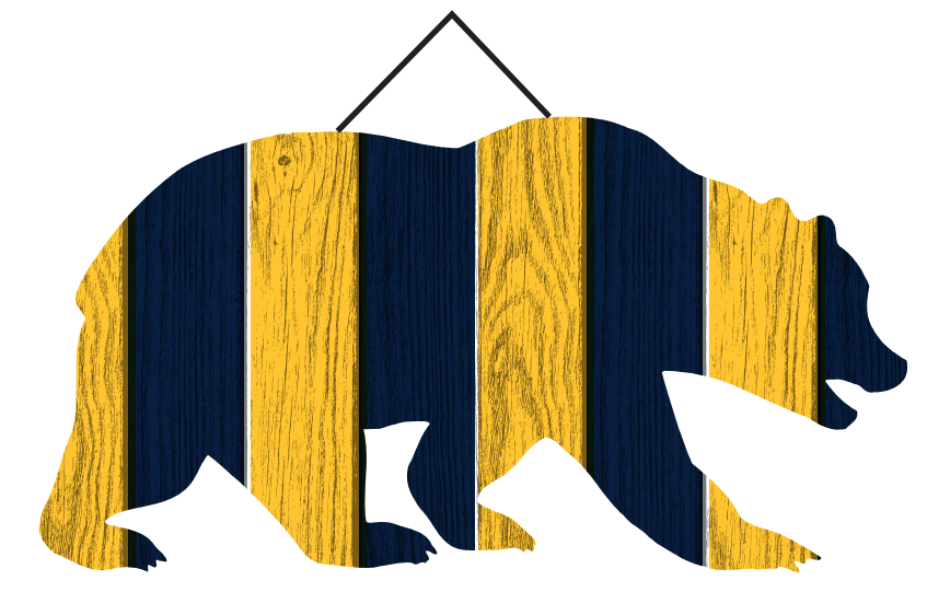 "Cal Bears 16"" Walking Bear Wood Wall Sign"