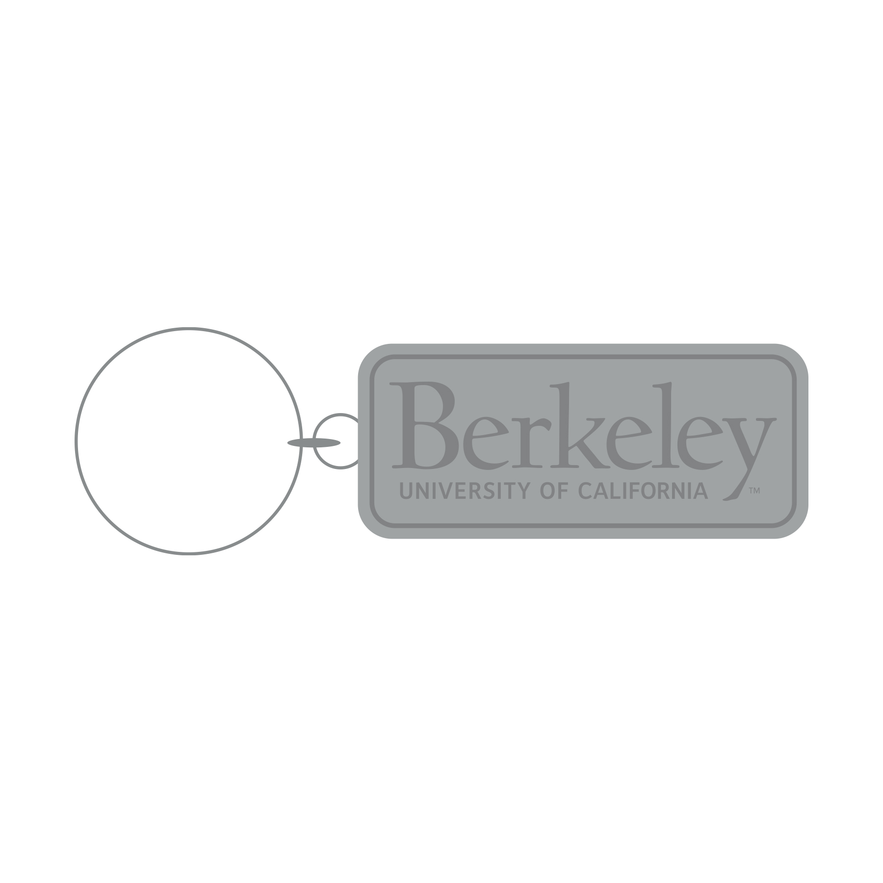 Cal Bears Antique Metal Keychain Signature Logo