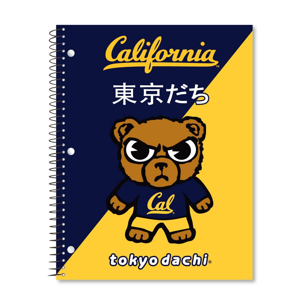Cal Bears 1Sub Notebook Tokyodachi