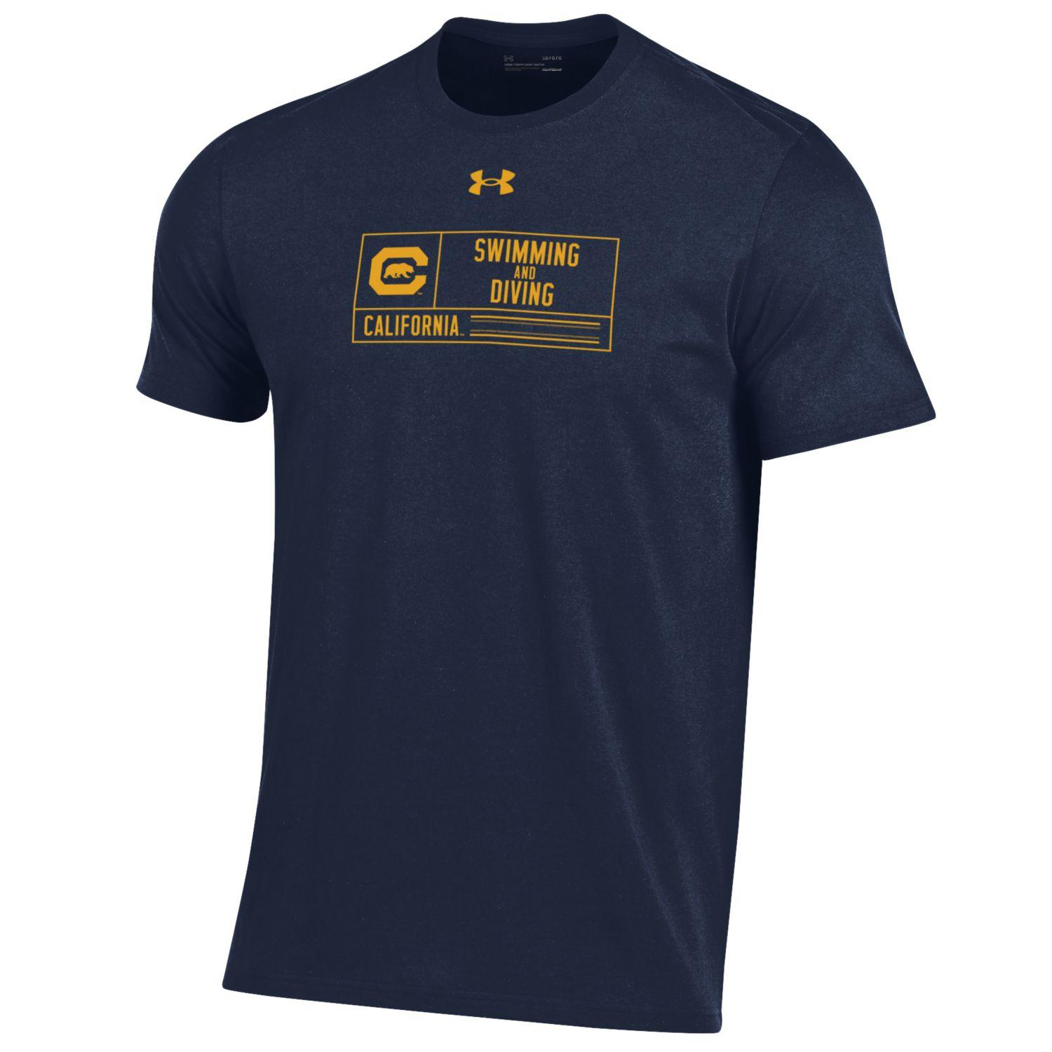 Cal Bears UA M Performance Cotton SS Swimming & Diving Tee