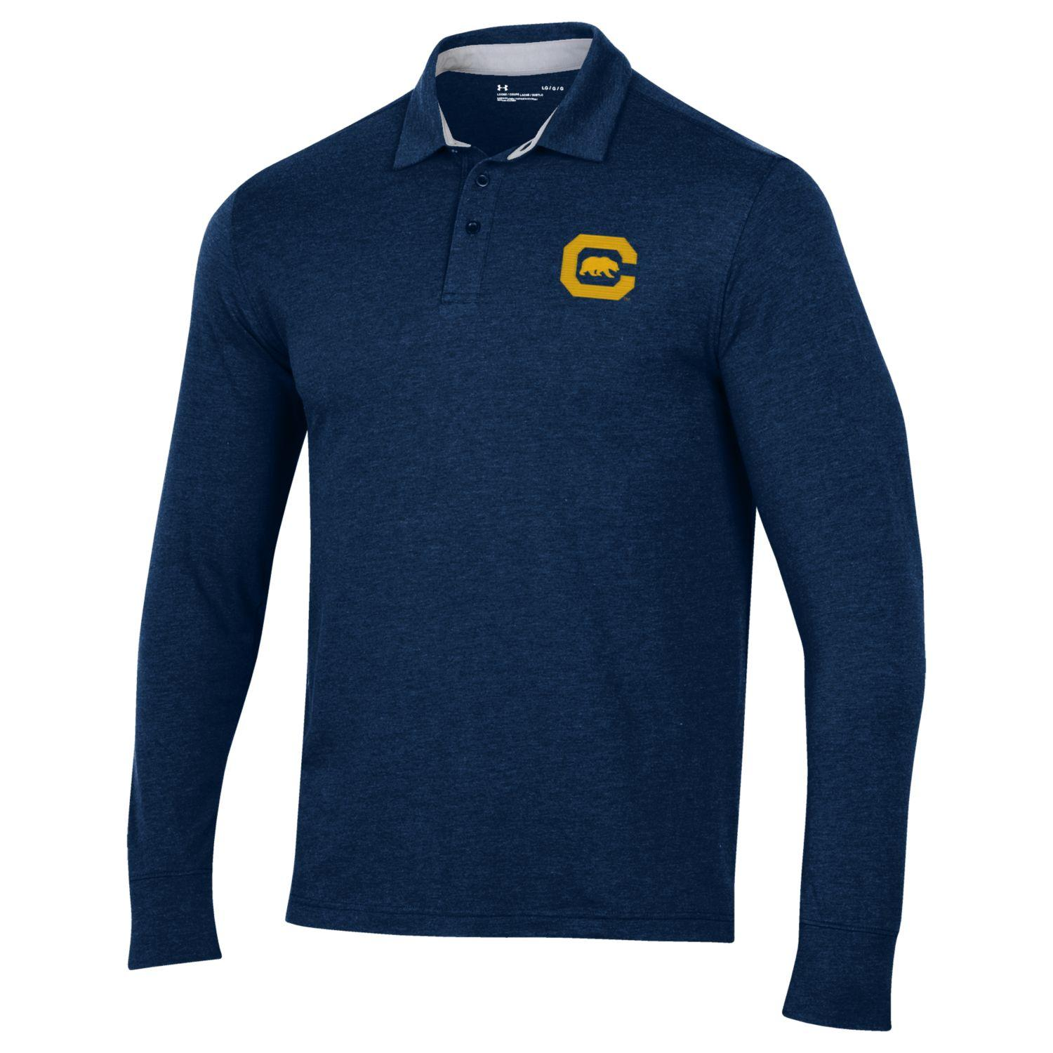 Cal Bears UA M Charged Cotton LS Polo