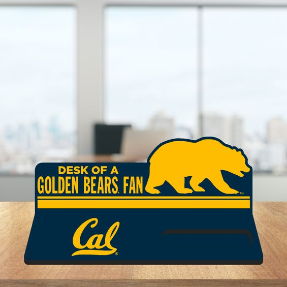 Desk Top Business Card Holder Golden Bear