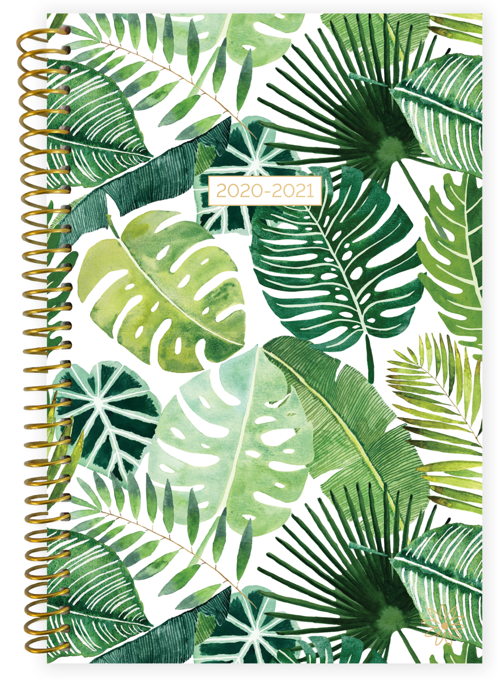 2020-2021 Soft Cover Planner Tropical Palm Leaves