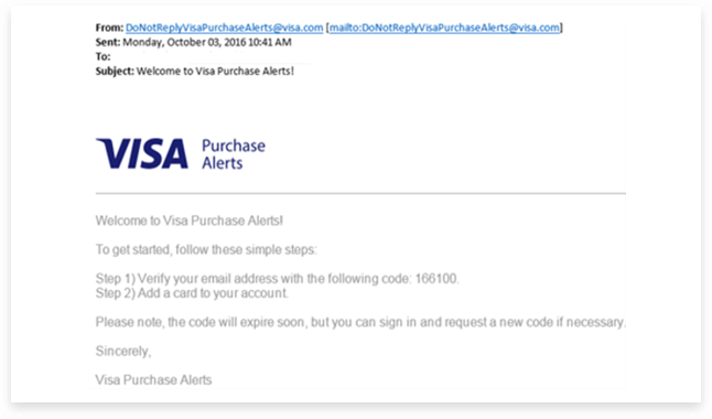 Visa Purchase Alerts - BB Americas Bank