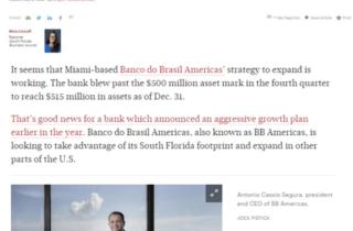 BB Americas Bank breaks $500M assets ceiling