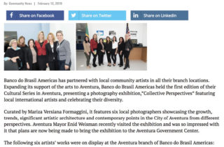 """BB Americas Bank Cultural Series presents """"Collective Perspectives"""""""