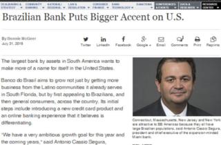 Brazilian bank puts bigger accent on U.S