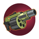 UPR-G73 Grenade Launcher: Ernest's trademark UPR Grenade Launcher launches explosive canisters that detonate on impact with an enemy, or after a short delay.