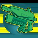 Custom Machine Pistol: Mellka's Machine Pistol deals rapid fire damage at medium range.