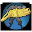 Montana's Minigun: A truly fearsome weapon, the Minigun accumulates heat as it fires, increasing bonus damage dealt. Augments can increase or modify this effect.