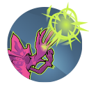 Chaos Bolts: Orendi's primary attack launches a rapid-fire volley of Chaos Bolts. Her slower secondary attack fires four Chaos Bolts simultaneously.