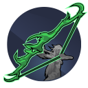 Kreshek: Thorn's devastating Ekkuni longbow can be augmented to increase damage, range, and accuracy. Ready and hold an arrow to charge it.