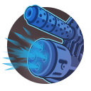 Scrap Cannon: Fires a spread of shrapnel from the rifle's underbarrel, dealing 133 damage and wounding them for 4 seconds. Cooldown: 10 Seconds