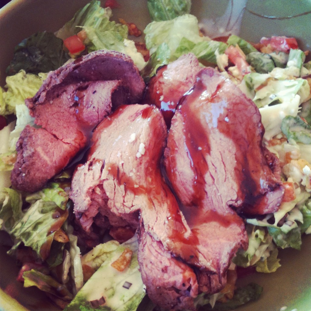 Bikini Body Mommy Steak salad