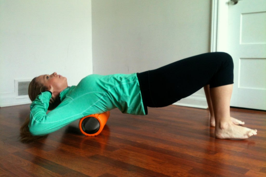 Foam Roll Upper Back Exercise