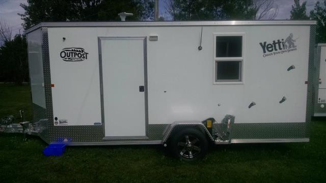2015 6 5 x 16 yetti outpost fish house starbuck mn 56381 for Yetti fish houses