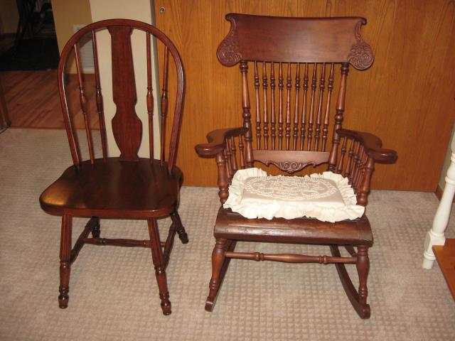 For Sale:  Wooden Desk Chair and Antique Wooden Ro Alexandria MN