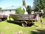 14 ft alumacraft lunker fishing boat- 20 hr johnso Alexandria, MN